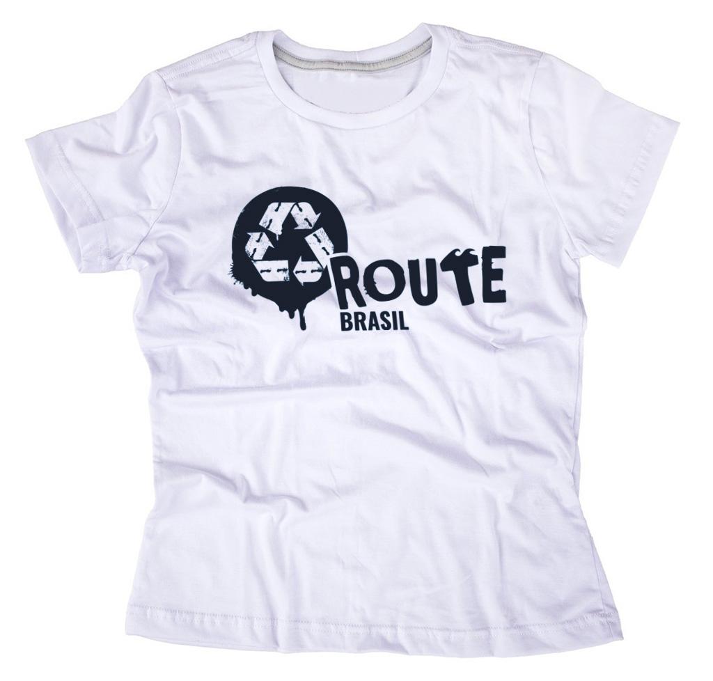 fd6afb204 Compre a sua Camiseta ROUTE Brasil Feminina Branca